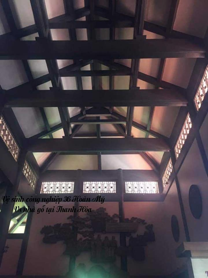 Vệ sinh nhà gỗ tại Thanh Hóa 2