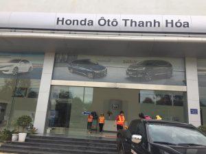 Dịch vụ vệ sinh bảo trì định kỳ tại Showroom Honda